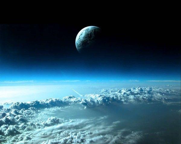 fond d'écran lune et soleil